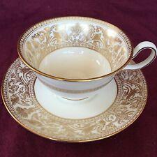 Wedgwood Gold Florentine Tea Cup and Saucer Set 4219