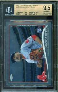 Mookie-Betts-Rookie-Card-2014-Topps-Chrome-Update-MB46-BGS-9-5-9-5-9-5-9-5-9