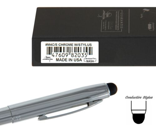 Chrome Space Pen With Conductive Stylus Fisher M4 Series #M4C//S