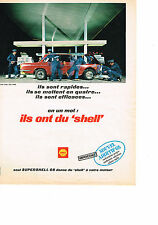 PUBLICITE  1968   SHELL   carburation propre