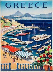 Greece-Greek-Isle-Isles-Island-Athen-039-s-Bay-Europe-Travel-Advertisement-Poster