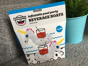 Inflatable Unicorn Floating Drink Can Cup Holder Hot Tub Swimming Pool Beach