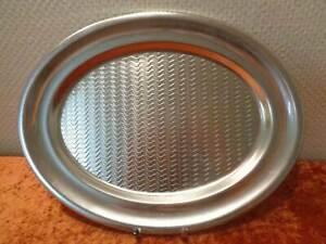 XL-DDR-Aluminio-Servir-Bandeja-Vintage-Alrededor-De-1970-Ondas-Diseno-40