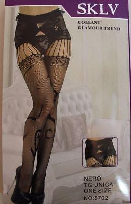 Temperamentvoll Crutchless Women Body Open Crotch Suspender Fishnet Tights Pantyhose Uk