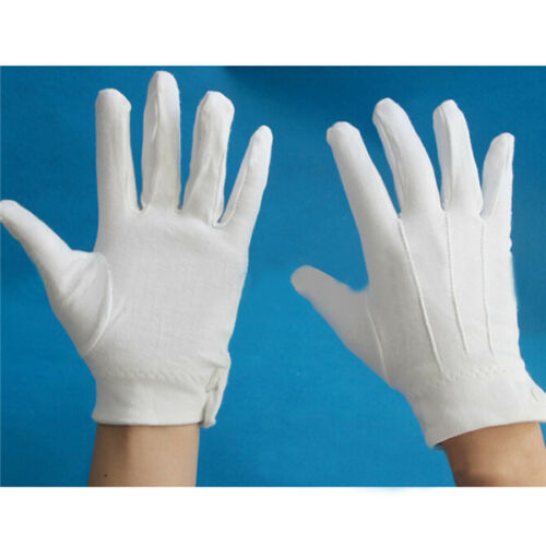 1 Pair Military Parade Thicken Etiquette Inspection Gloves White Formal Gloves
