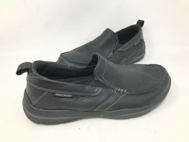 NEW! Skechers Men's HARPER FORDE Slip On Dress Shoes Black #64858 181M krk