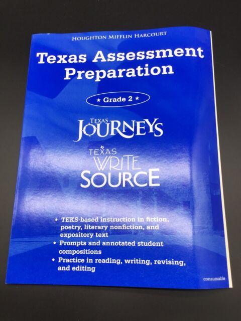 Texas Journeys Test Prep Reading 2nd Grade Student Practice Book Textbook
