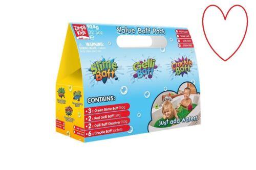 Gelli Slime Baff Crackle Messy Value Pack Play Bath