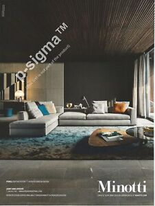 Image Is Loading Minotti Sofas And Cushions Print Ad 186 5