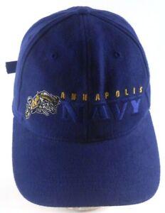 Annapolis-Navy-USNA-Goat-Logo-Blue-Embroidered-Strapback-Adjustable-Cap-Hat