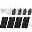 thumbnail 1 - 4 Pack Wireless WiFi Security IP Rechargeable Cameras Argus Eco + Solar Power
