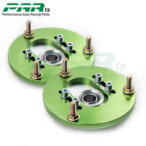 Front-Coilover-Camber-Plate-For-BMW-3-Series-E46-98-05-Top-Upper-Mount-Green-buy