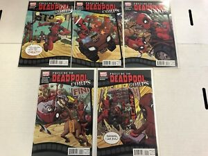 Prelude to Deadpool Corps #1 2 3 4 5 Comic Book Set Marvel 2010
