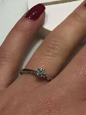 CLEARANCE SALE 9CT WHITE GOLD DIAMOND SOLITAIRE RING 0.25CT II3 DIAMOND RING