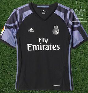 Detalles de Adidas Real Madrid Alternativa Camisa Camiseta de fútbol niños todos Los Tamaños ver título original