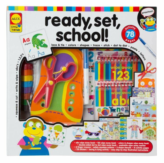 ALEX Toys Learning Little Hands Ready School Toy Build 1454 Girls Boys Ages 3+