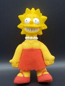 """1990 Vintage Lisa Simpson Vinyl Doll The Simpsons Plush Toy 8"""""""