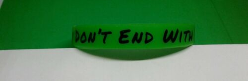Family Don/'t End With Blood Rubber Bracelet