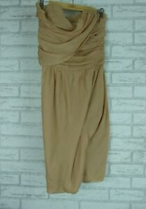 d5bb0b5b68 Image is loading BIANCA-SPENDER-Nude-corset-dress-Sz-8-100-