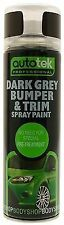 Autotek Dark Grey Bumper & Trim Aerosol Spray Paint 500ML Bodywork DIY
