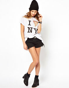 Tee New Couture York Wildfox White Tshirt Slice Top 42 14 L Asos Pizza 10 6Uqd0Hw