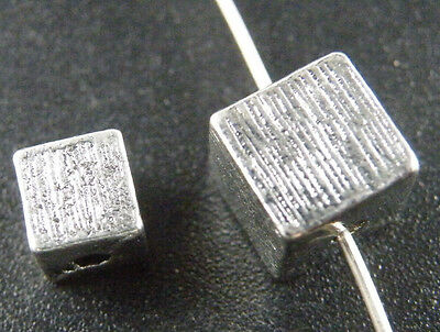 100pcs Tibetan Silver Spacer Loose Charm Metal Beads Findings Cube 6x6x6mm HC