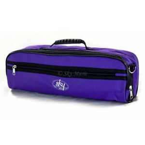 SKY-Brand-High-Quality-Flute-Hard-Case-COVER-with-Pocket-Handle-Strap-Purple
