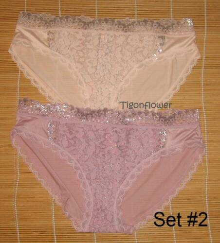 2 Victoria/'s Secret Panties Body By VS Bikini Lace Front Small You choose set