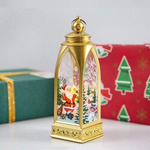 Christmas Candlestick Lantern Light Bulb Party Decor Arches Small Wind Lamps