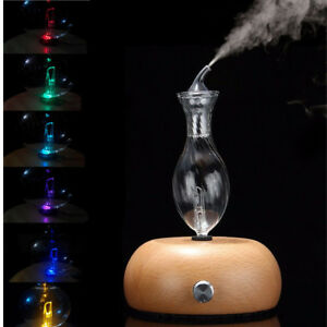 Wood-amp-Glass-Pure-Aroma-Essential-Oil-Nebulizer-Humidifier-Aromatherapy-Diffuser