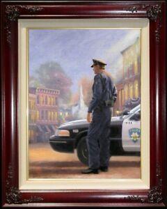 Thomas-Kinkade-Called-to-Serve-24x18-G-P-Canvas-NEW-Brandy-Frame