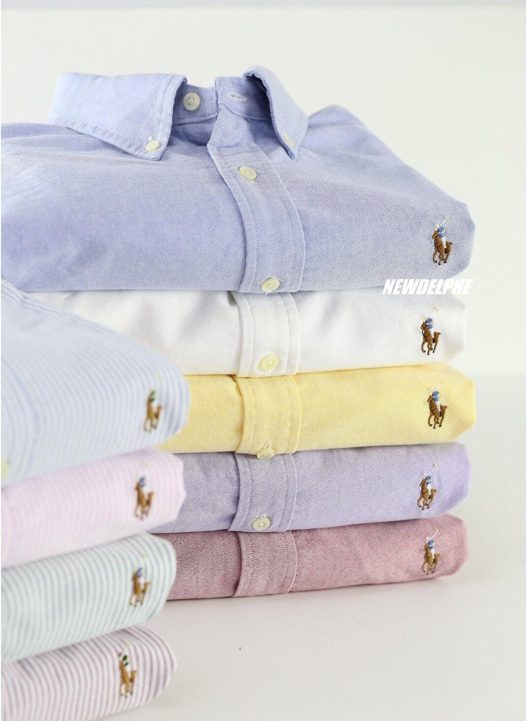 NWT Polo Ralph Lauren Men Long Sleeve Button Down Oxford Sport Shirt MSRP