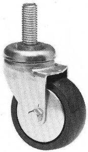 Sur De Soi N°4 Roues Pour Chariots Meubles Stender En Caoutchouc Noir Diamètre Mm.80 Ckg.40 Brillant