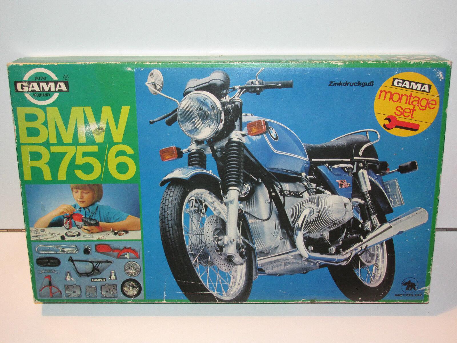 VINTAGE MODEL KIT GAMA NO 1285 BMW R75/6 MONTAGE SET MIB 1970s GERMANY RARE