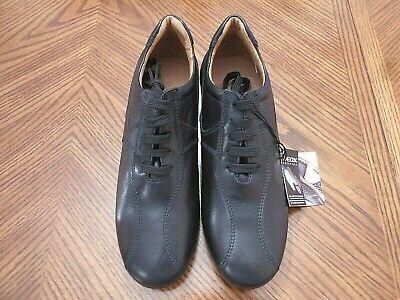 comprar popular diseño unico disfrute del envío de cortesía New GEOX Respira D3358 Black Leather Athletic Shoes Size 37 US 6.5 ...