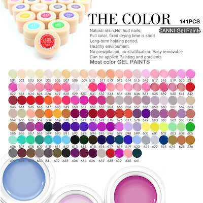 CANNI Hot Solid Pure UV Soak Off Gel Paint Color  Nail Art French Tips #501-530