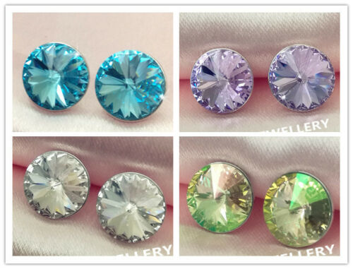Crystal stud Earring//White gold//RGE708//709//710//711
