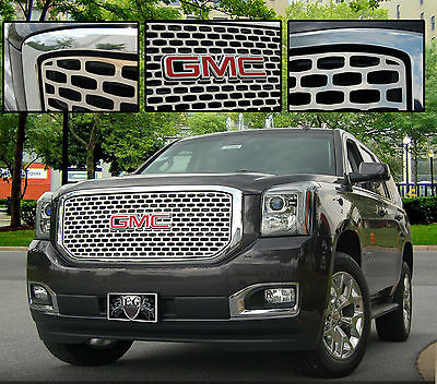 1PC STAINLESS STEEL DENALI STYLE Z GRILLE GRILL E&G FITS 2015-2017 GMC YUKON