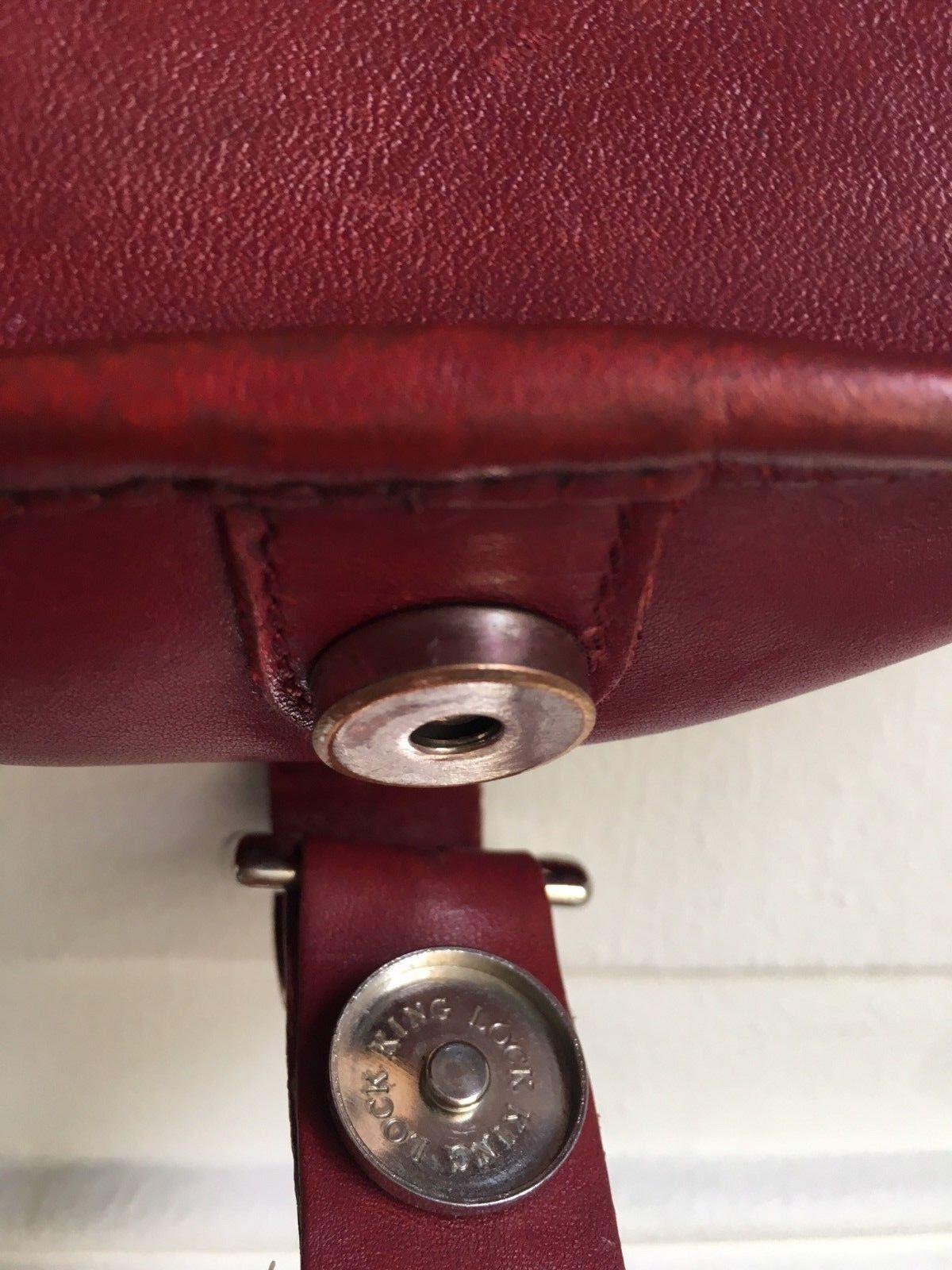 A.P.C Burgundy Red Leather Shoulder Bag - Half mo… - image 5