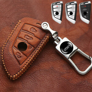 Genuine Leather Protector for BMW 3//4 Buttons X1 X2 X3 X5 X6 5 Series 2018 7 Series 2017 2018 2 Series and 6 Series GT Key Fob cover with key holder Smart Car Remote key Holder Car Key Case