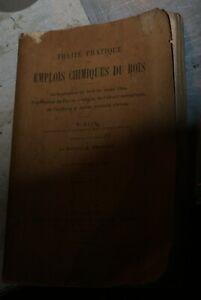 traite pratique emplois chimiques du bois klar gautier 1918