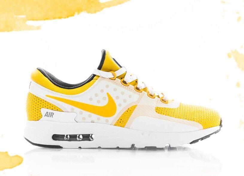 Nike Air Max Zero QS 789695-100 Weiß Yellow Größe UK 11.5 EU 47 US 12.5 New