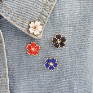 Kirschblueten-Blume-Brosche-Emaille-Pins-Jacke-Tasche-Pin-Badge-Schmuck-Gesc-xj