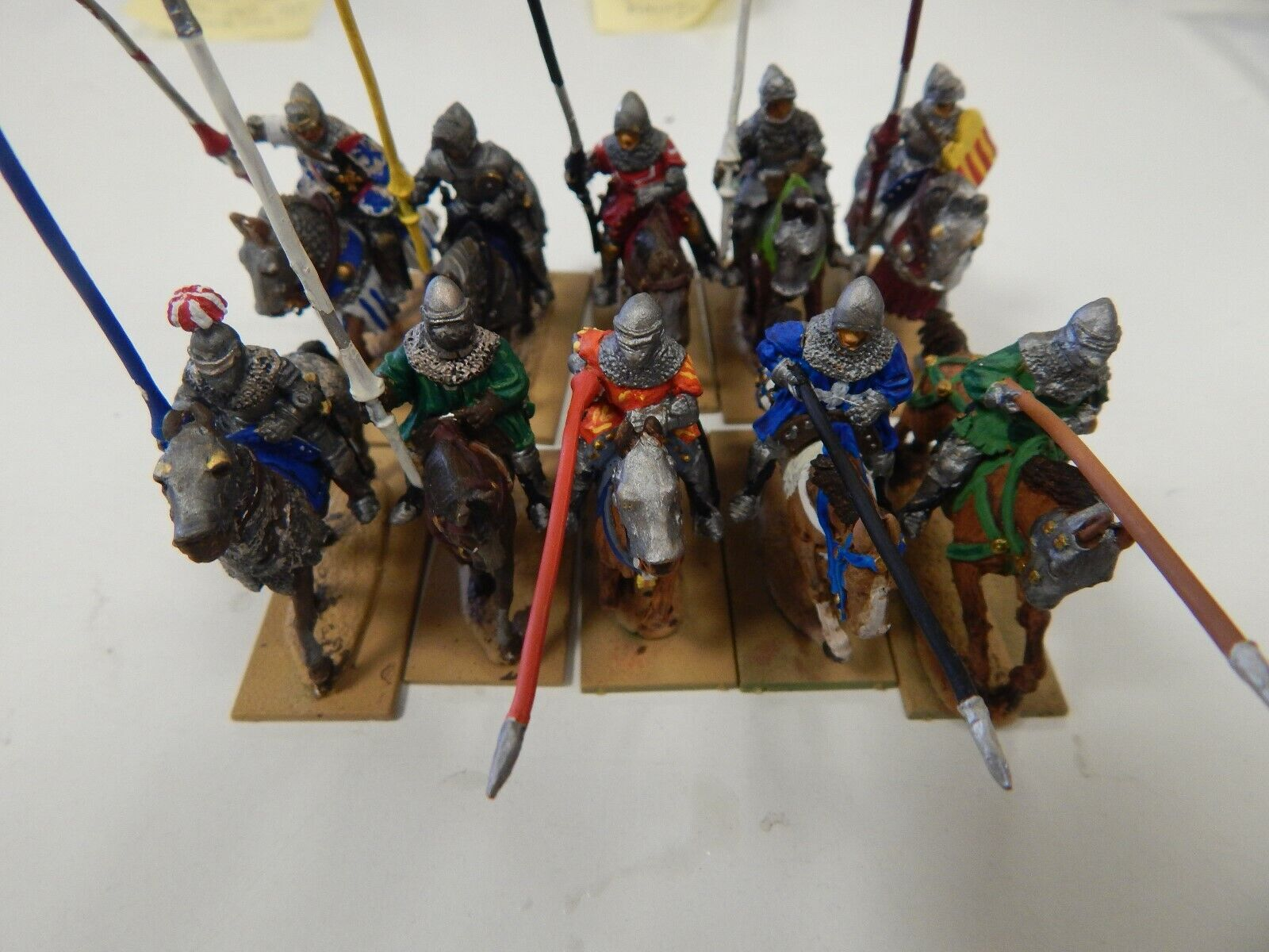 Perry 28mm metal painted 10 mounted Medieval cavalry - set 1