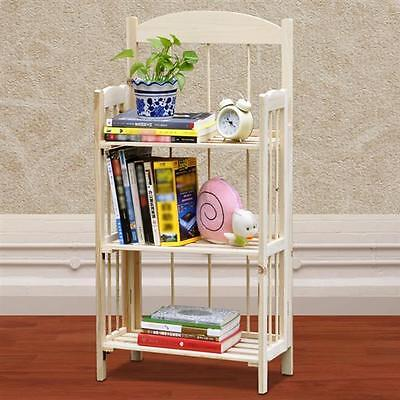 3/4 tiers Folding Display Bookcase Home Office Storage Rack Shelving Unit NEW