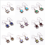 925-Solid-Sterling-Silver-Earrings-Natural-Gemstone-Handmade-Women-Jewelry-E7 thumbnail 1
