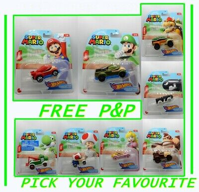 Hot Wheels Super Mario 1//64 Scale Cars *CHOOSE YOUR FAVOURITE*