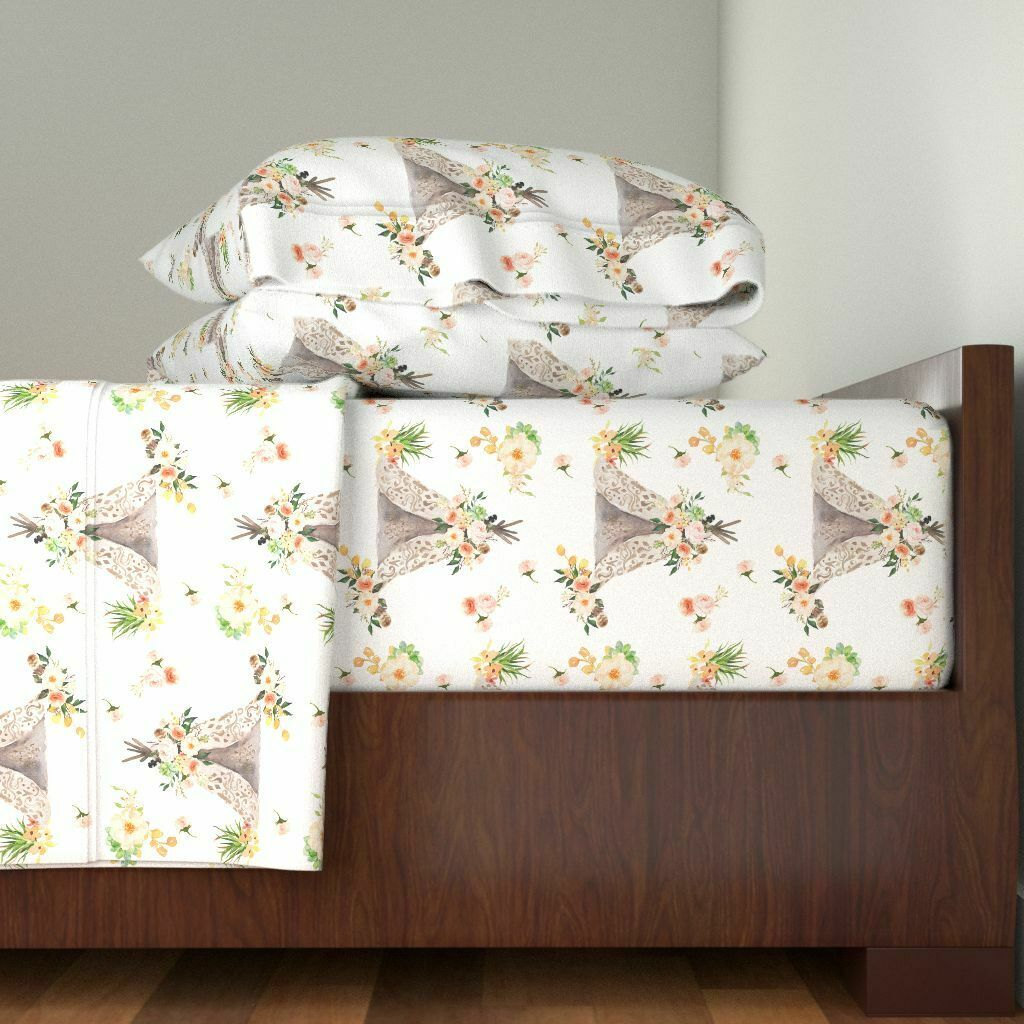 Girl Boho   Girl   Girl 100% Cotton Sateen Sheet Set by Roostery