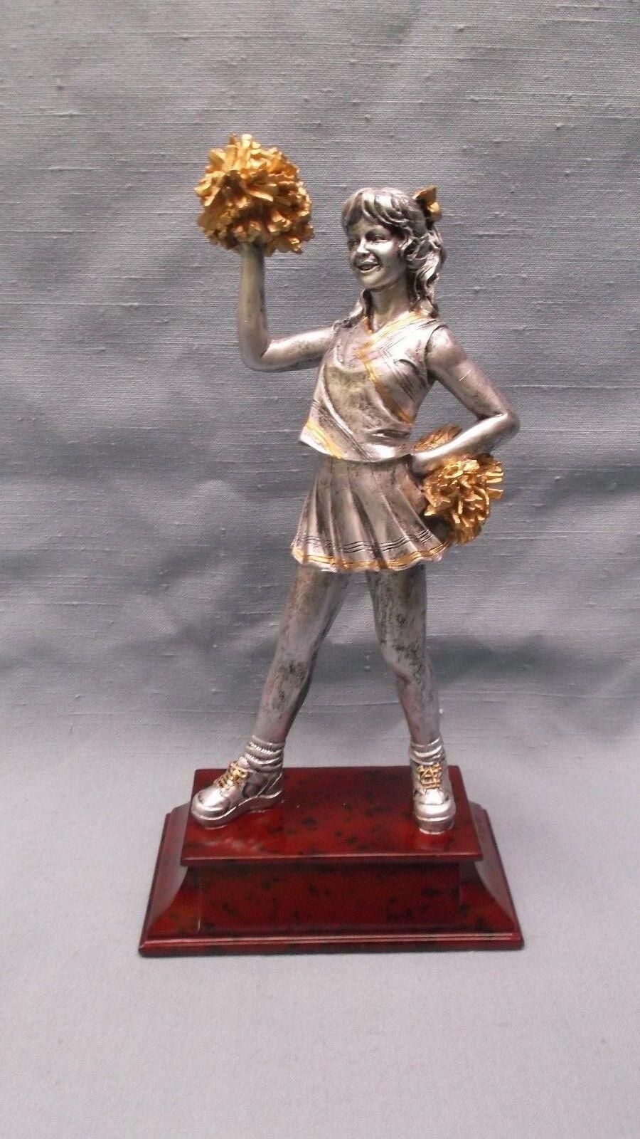 Team lot of 10 CHEERLEADING statue trophies resin PDU 57506GS