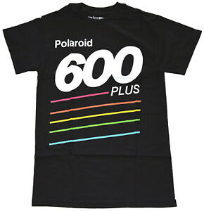 Polaroid-600-Plus-Black-Men-039-s-Graphic-T-Shirt-New